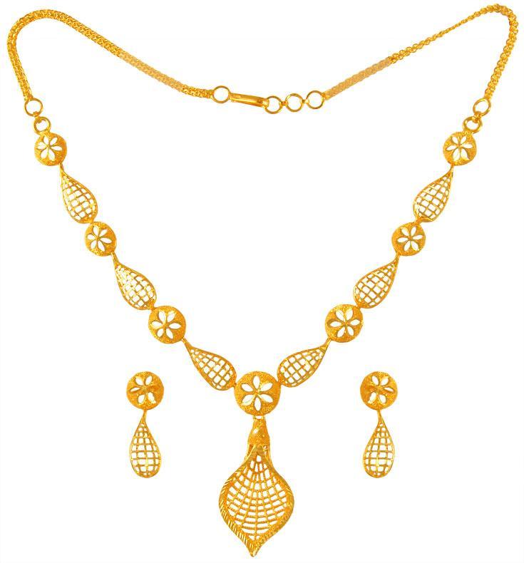 22 karat yellow gold necklace set stls22956 sets necklace light sets. Black Bedroom Furniture Sets. Home Design Ideas