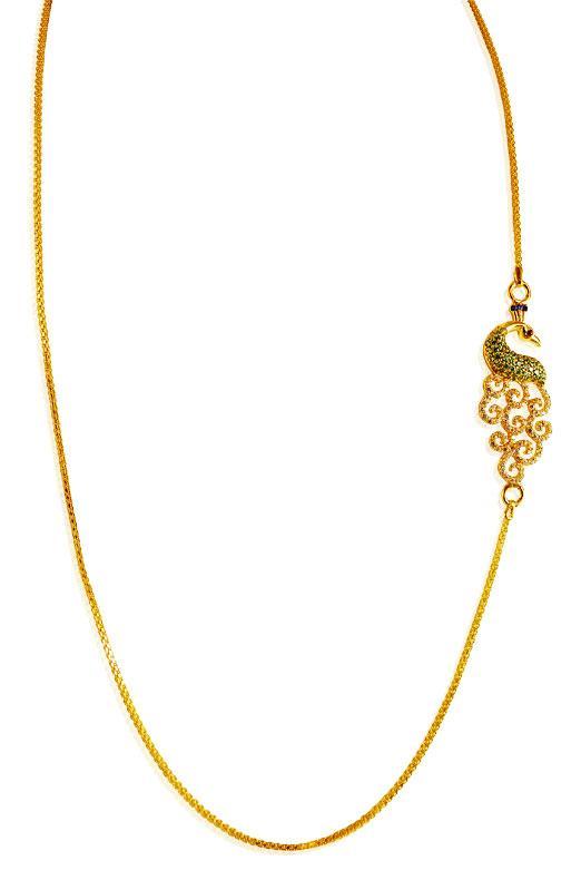 22 karat gold side pendant chain chfc19785 necklace chains 22 karat gold side pendant chain mozeypictures Images