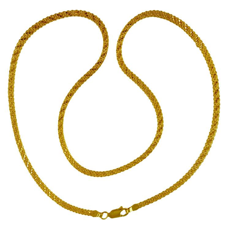 chains details chain necklace flat indian plain inch gold