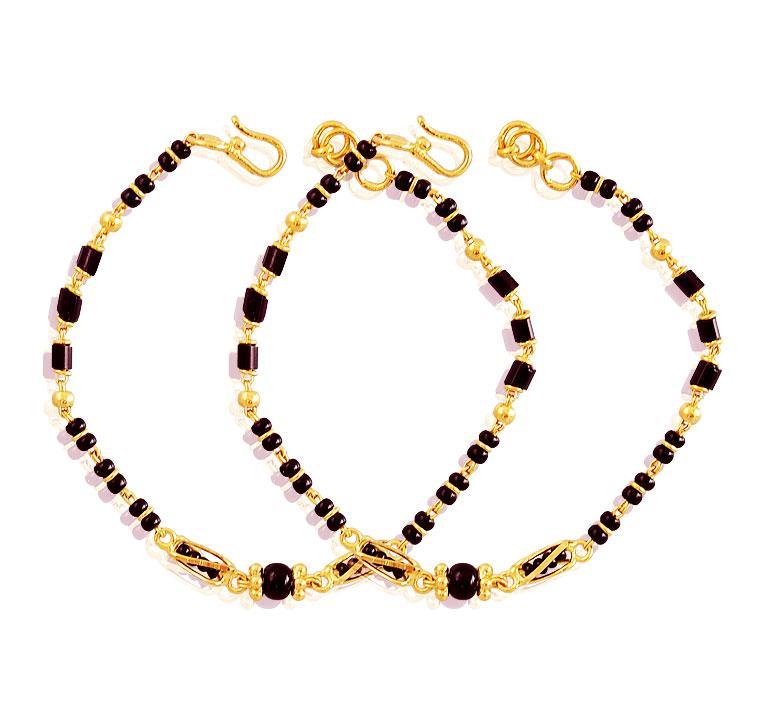 22k Black Beads Kids Mania Bjbb18326 Baby Jewelry