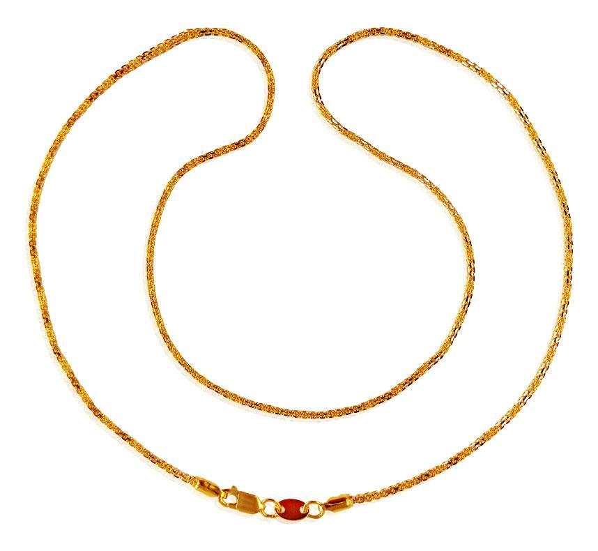 22k Gold Rhodium Chain 18 Inch Chpl21118 Necklace