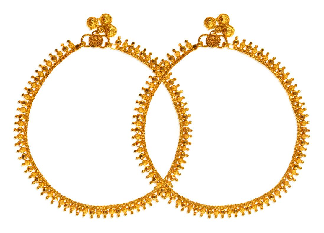 22Kt Gold Payal 2 PCs GaPa23311 Miscellaneous Gold Jewelry